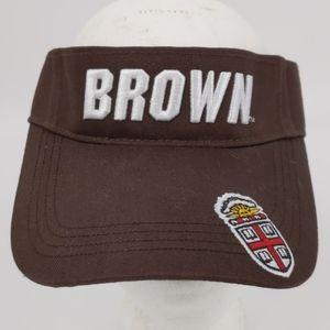 Vintage Brown University Champion Visor Hat